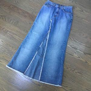 XOXO Long denim skirt